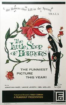 Film poster for The Little Shop of Horrors parodying the song