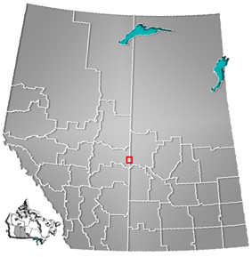 Location of Lloydminster in Alberta and Saskatchewan