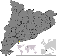 Location of Tarragona in Catalonia