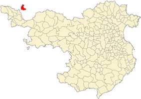 Location of Llívia in the province of Girona