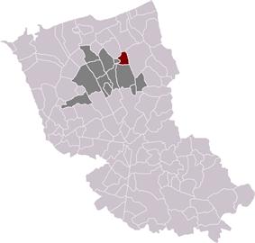 Hoymille in the arrondissement of Dunkirk