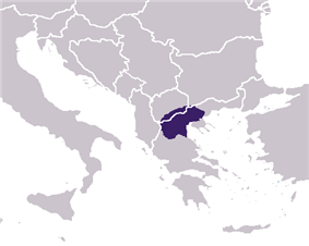 Ancient Macedon: Approximate borders of the kingdom before expansion to conquer the whole known world, according to archaeological findings and historic references.