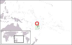 Location of Rotuma in Melanesia.