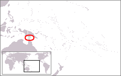 Location of the Torres Strait Islands, between Cape York Peninsula, Queensland, Australia and Papua New Guinea.