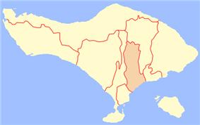 Location Gianyar Regency