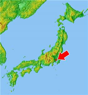 Former location of Edo (present-day Tokyo)