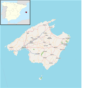 Banyalbufar is located in Majorca