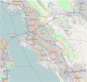 Berkeley Marina is located in Oakland, California
