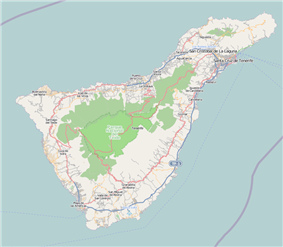 Map showing the location of Teide National Park