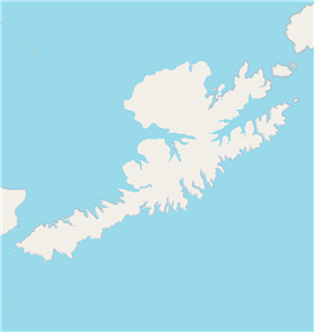 Unalaska, Alaska is located in Unalaska