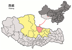 Location of Amdo County within Tibet