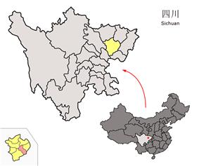 Peng'an County in Sichuan