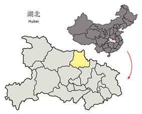 Location of Suizhou City in Hubei