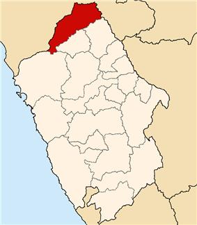 Location of Pallasca in the Ancash Region