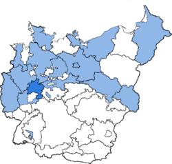 Location of Kurhessen