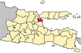 Location of Surabaya in East Java