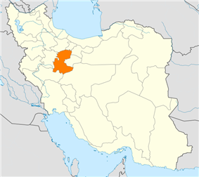 map of Iran with Markazi highlighted