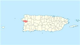 Location of Añasco in Puerto Rico