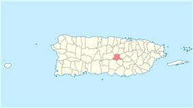 Location of Barranquitas in Puerto Rico