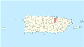 Location of Bayamón in Puerto Rico