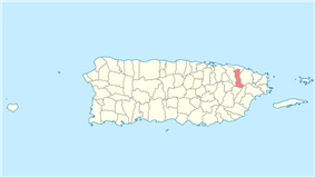 Location of Canóvanas in Puerto Rico