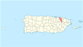 Location of Carolina in Puerto Rico