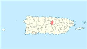 Location of Corozal in Puerto Rico