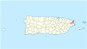 Location of Fajardo in Puerto Rico