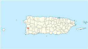 Location of Hormigueros in Puerto Rico