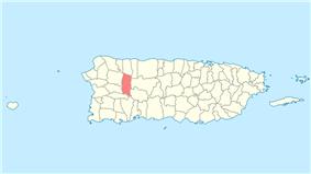 Location of Lares in Puerto Rico