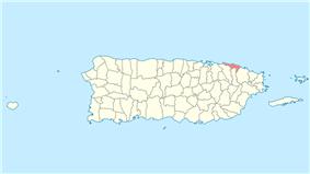Location of Loíza in Puerto Rico