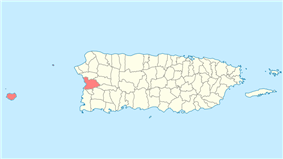 Location of Mayagüez in Puerto Rico