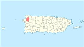 Location of Moca in Puerto Rico