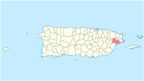 Location of Naguabo in Puerto Rico