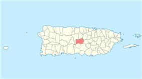 Location of Orocovis in Puerto Rico