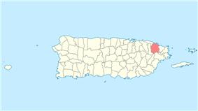 Location of Río Grande in Puerto Rico