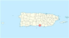Location of Santa Isabel in Puerto Rico