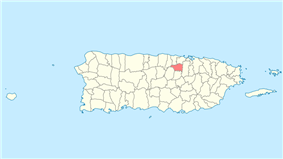 Location of Toa Alta in Puerto Rico