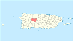 Location of Utuado in Puerto Rico