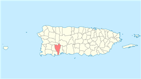 Location of Yauco in Puerto Rico