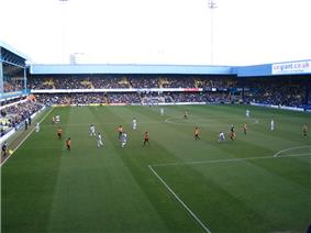 Inside view of Queens Park Ranger's stadium, Loftus Road