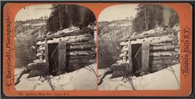 Log Cabin, Bloody Run, Niagara, N.Y, from Robert N. Dennis collection of stereoscopic views
