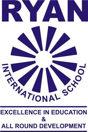 Logo of Ryan International School depicting the motto