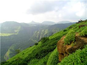 View of Western Ghats near Lonavala