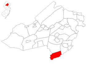 Long Hill Township highlighted in Morris County. Inset map: Morris County highlighted in the State of New Jersey.