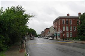 Looking west on sunny Main Street