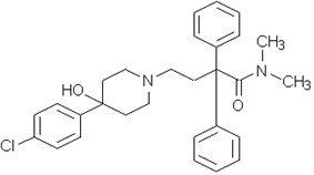 Chemical structure of Loperamide.