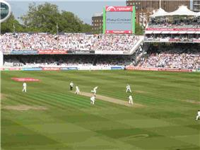 A cricket ground during a game