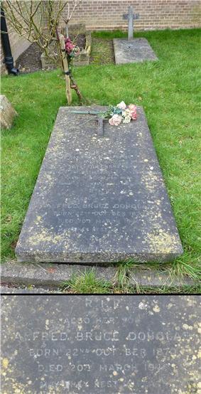Douglas' gravestone