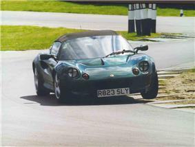Lotus Elise at Snetterton Motor Racing Circuit.